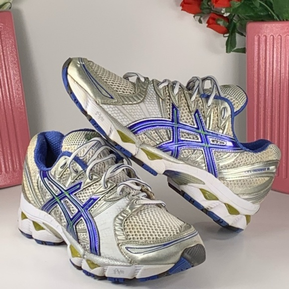 Asics Gel Nimbus 12 Running Shoes Size 8.5 BlSlvr